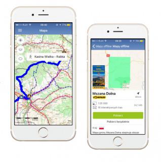 Mapa mobilna offline Mszana Dolna